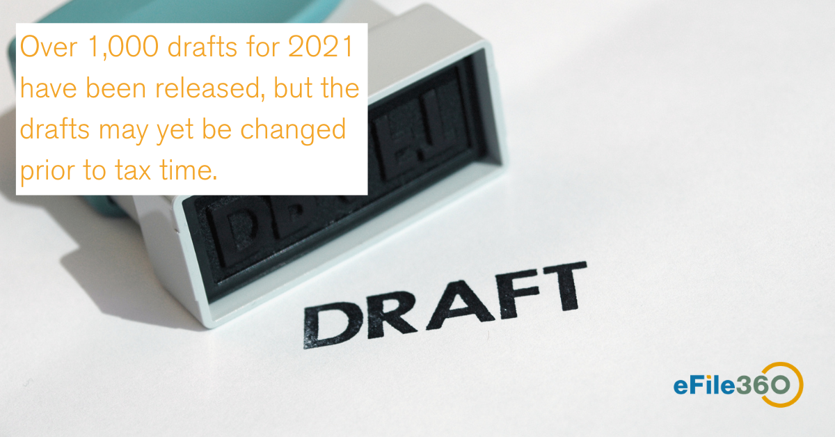 2021 drafts 1099-nec and 1099-misc